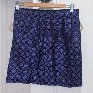 Jcrew printed silk skirt